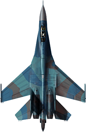 This is the russian Su-27. Beware of its R-77 missiles.