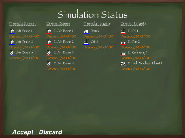 Mission Status in a Survival campaign.